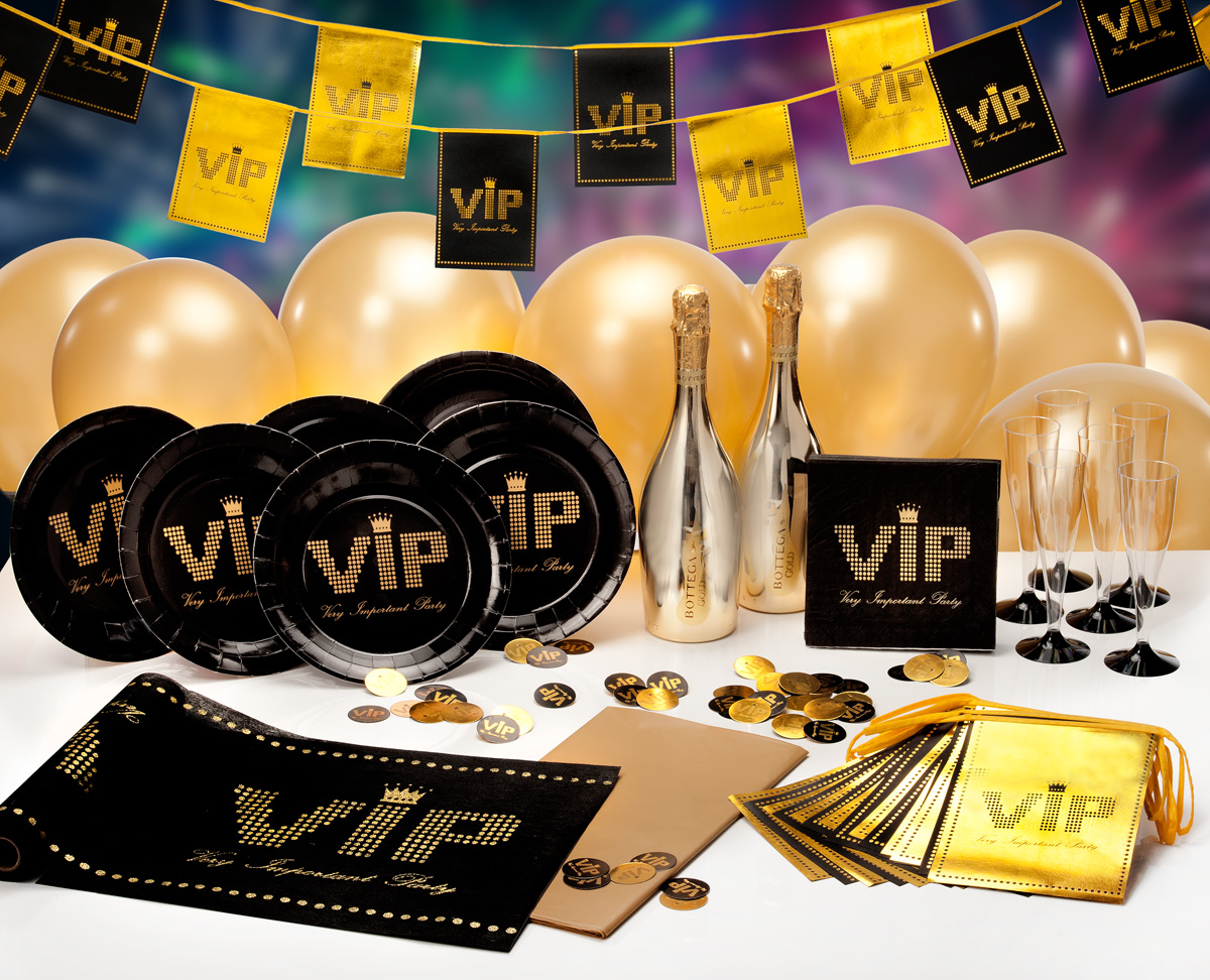 VIP-Party Zubehör mit Goldprosecco